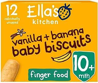 Ella's Kitchen Baby Biscuits Vanilla + Bananas 12 x 9g (108g)