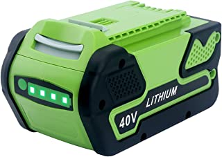 Epowon 5000mAh Replacement Greenworks G-MAX 40V Lithium Battery for 29472 29462 29252 20202 22262 25312 Cordless Chainsaw Power Tools