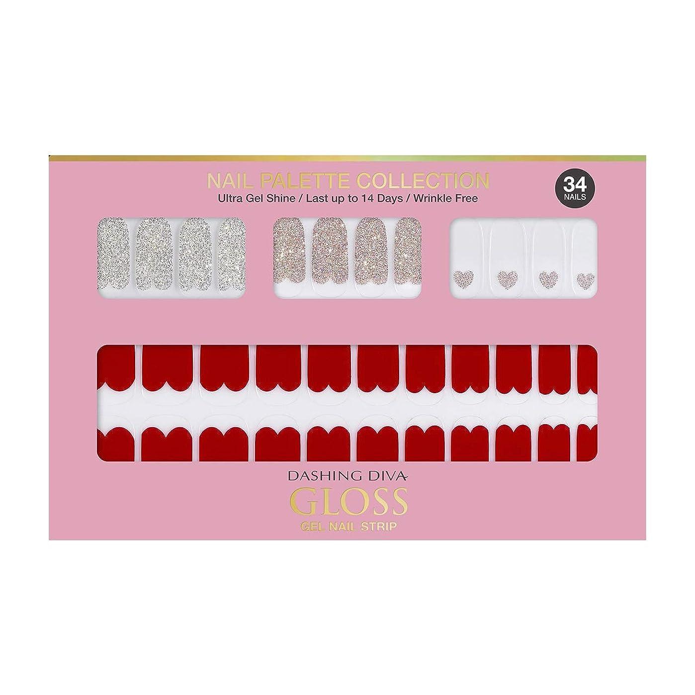 負荷圧倒的エールダッシングディバ グロスジェル ネイルストリップ DASHING DIVA Gloss Gel Nail Strip DGNP05-DURY+ オリジナルジェル ネイルシール Rosy #05 Red Shorts