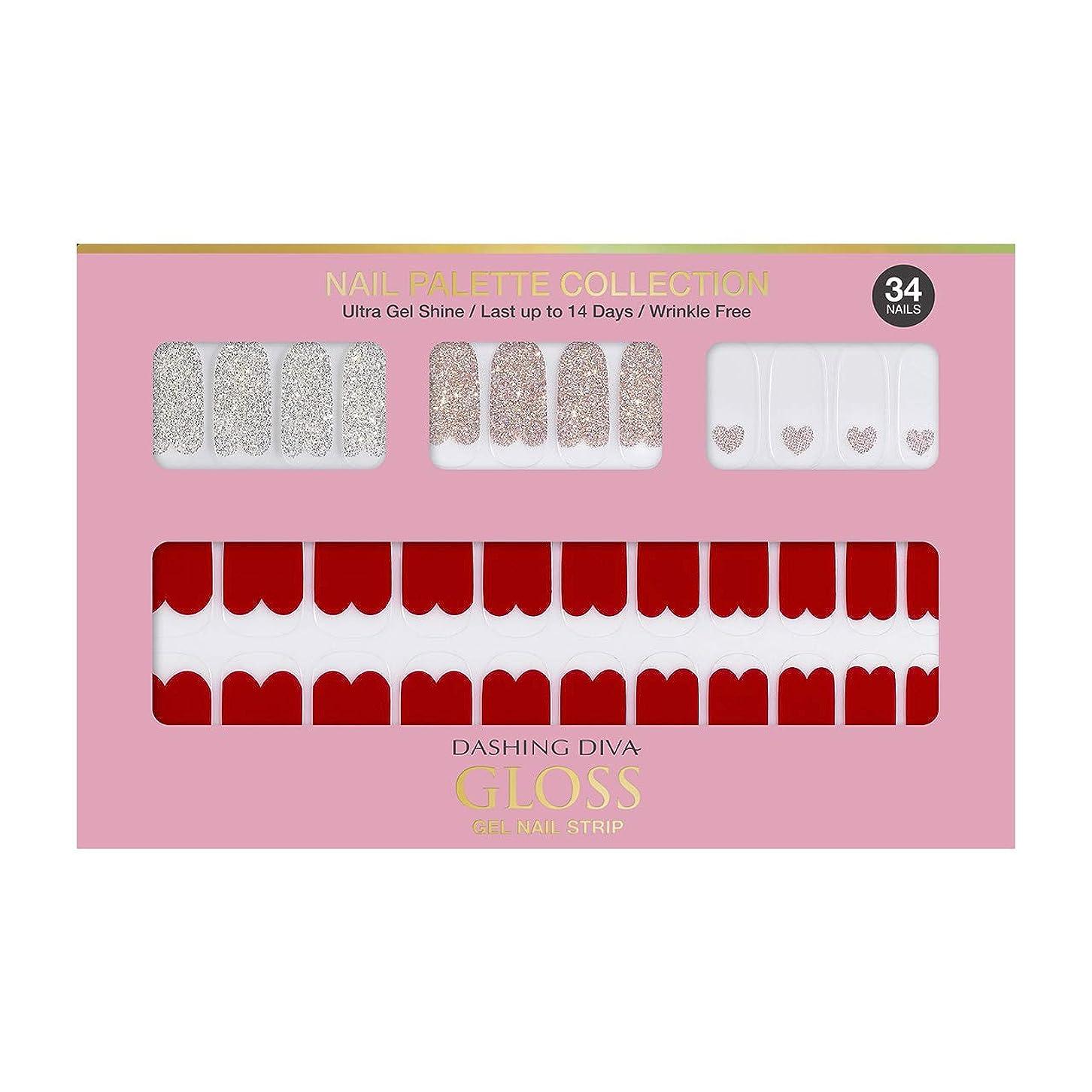 アルカイック海上蒸留ダッシングディバ グロスジェル ネイルストリップ DASHING DIVA Gloss Gel Nail Strip DGNP05-DURY+ オリジナルジェル ネイルシール Rosy #05 Red Shorts