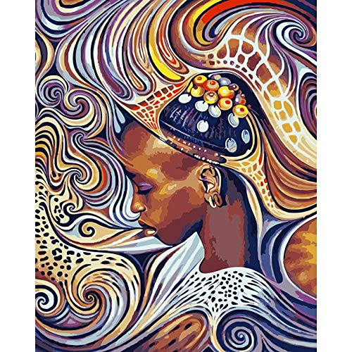 Canvas Wall Art Print African woman for living room decorative picturesand posters wall art 60x75cmFrameless painting