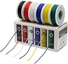 CBAZY™ Hook up Wire Kit (Stranded Wire Kit) 24 Gauge 6 Colors 32.8 feet Each Electrical Wire 24 AWG PVC Wire