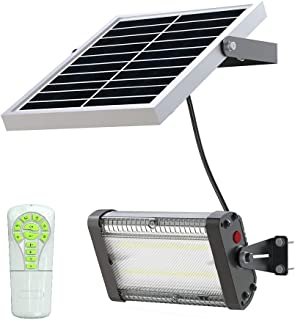 Solar LED Barn Light, 8,000mah Li-ion Battery for Outdoor/Indoor Flood Light with Remote Control, 2,000 Lumen by spc