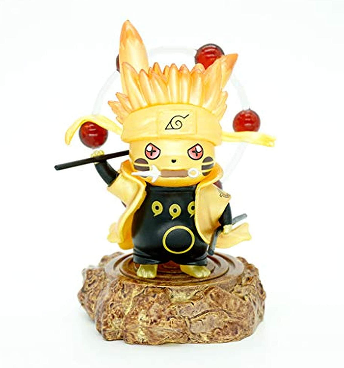 Fglpbr Naruto Pikachu Action Figure Cosplay Obito Model Anime Statue Doll Birthday Gift