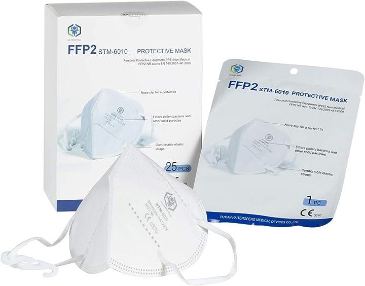 Mascherine ffp2 certificate ce sigillate singolarmente (25 pezzi)      stm STM-6010