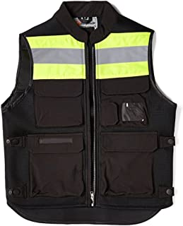 A.B Crew Reflective Motorcycle Biker Vest with Pockets High Visibility Base Safety Vest for Cycling Sport Street Racing, Green XL