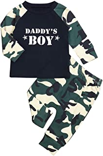 Happy Father's Day Baby Boy Clothes Short Sleeve T-Shirt Top+Camouflage Pants Summer Casual Outfit Set