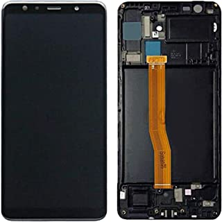 LHND شاشة LCD بديلة + إطار لهاتف Samsung Galaxy A7 2018 SM-A750 A750N A750GN/DS A750F A750FN LCD شاشة اللمس + إطار + قطع ت...