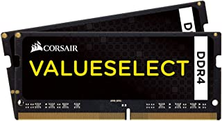 Corsair CMSO16GX4M1A2133C15 Value 16 GB (1 x 16 GB) DDR4 2133 MHz Mainstream SODIMM Notebook minnesmodul – svart 32 GB (2 ...