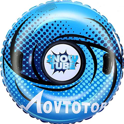 MOVTOTOP Snow Tubes, 47 Inch Inflatable Snow...