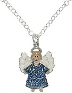 Christmas Themed Enamel Joyful Angel Necklaces Jewelry