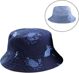Tyidalin Chapeau de Soleil B/éb/é Gar/çon Bonnet Bob de Plage Anti UV Pliable /ét/é en Coton pour Enfant 0-6 Ans