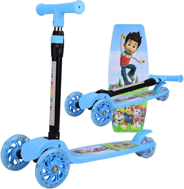 precio razonable Tindal Cochecito Plegable para Niños Niños Niños de 2 a 10 años de Edad, Scooter de Tres Ruedas con Destellos Ajustables (Color   azul)  ventas en linea