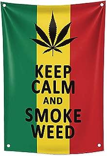 KINO Homie Jamaica Reggae Style Weed Marijuana Leaf Decorative Tapestry Rasta Flag Bar Club Tattoo Shop Banner Wall Hanging Cannabis Fabric Poster