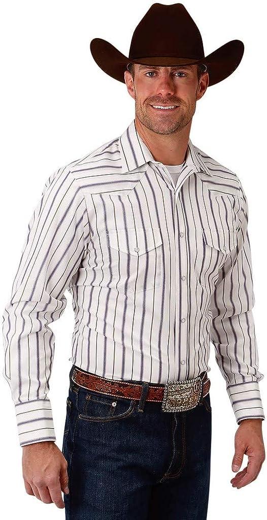 Roper Western Shirt Mens Snap L/S Tall Blue 01-001-0074-0673 BU