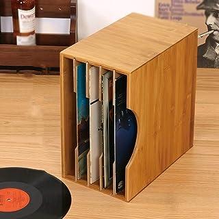 Soporte para discos de vinilo de escritorio, barra de ocio para salón de baile Estante de almacenamiento de CD multicapa -...
