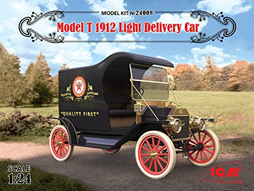 "PLASTIC MODEL BUILDINGT 1912 LIGHT DELIVERY CAR ""Tin Lizzi"" 1/24 ICM 24008"