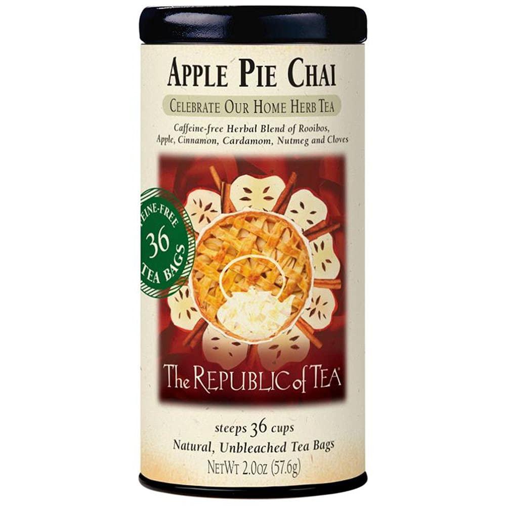 The Republic of Tea - Apple Pie Chai Herbal Tea, 36 Tea Bags