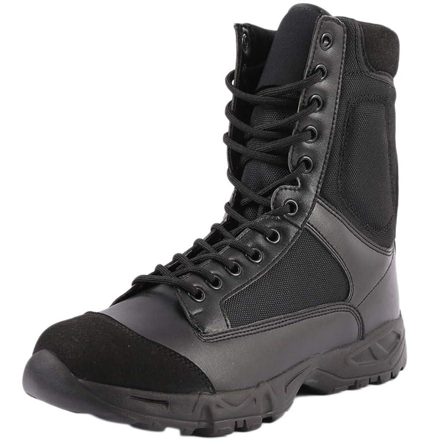 整然としたピケ海岸メンズ軍戦闘レザーブーツアウトドアブーツマーティン?特殊部隊の戦術的なブーツ警察労働安全ブーツ砂漠武装ブーツ
