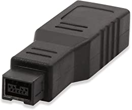 Electop FireWire 1394 6 Pin Female to 1394 9 Pin Male IEEE 400 to 800 Adapter Converter