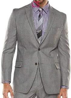 Mens Gray Slim Fit Luxury Wool Silk Blend Suit Jacket