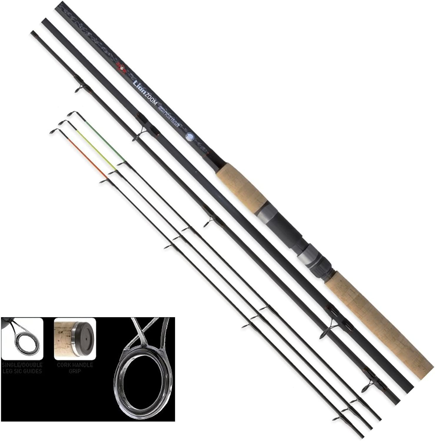Carp Zoom Lion Zoom Heavy Plus Reinforced Carbon Feederrute 3,60m-WG.70-140gile3+3