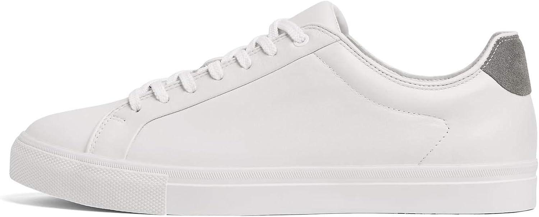 Zara Men's White Leather Sneakers 2229 002