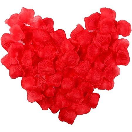 Electomania Artificial Rose Flower Petals (Red, 300 Piece)
