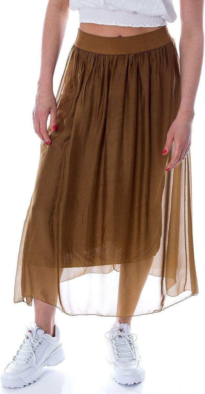 Susymix Women's 37335BROWN Brown Viscose Skirt