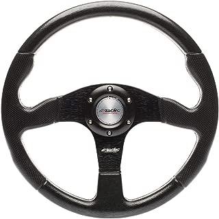 Simoni Racing Match Sport Steering Wheel, Three Spokes, Black Universal