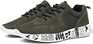 AUCDK Men Casual Overwork Shoes Black Size 39 Mesh Trainer Lightweight Sports Shoes Summer Breathable Sneakers
