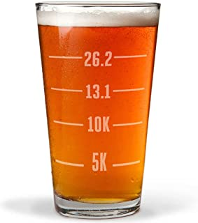 Runner's Measurements Engraved Beer Pint Glass By Gone For a Run   16 oz.