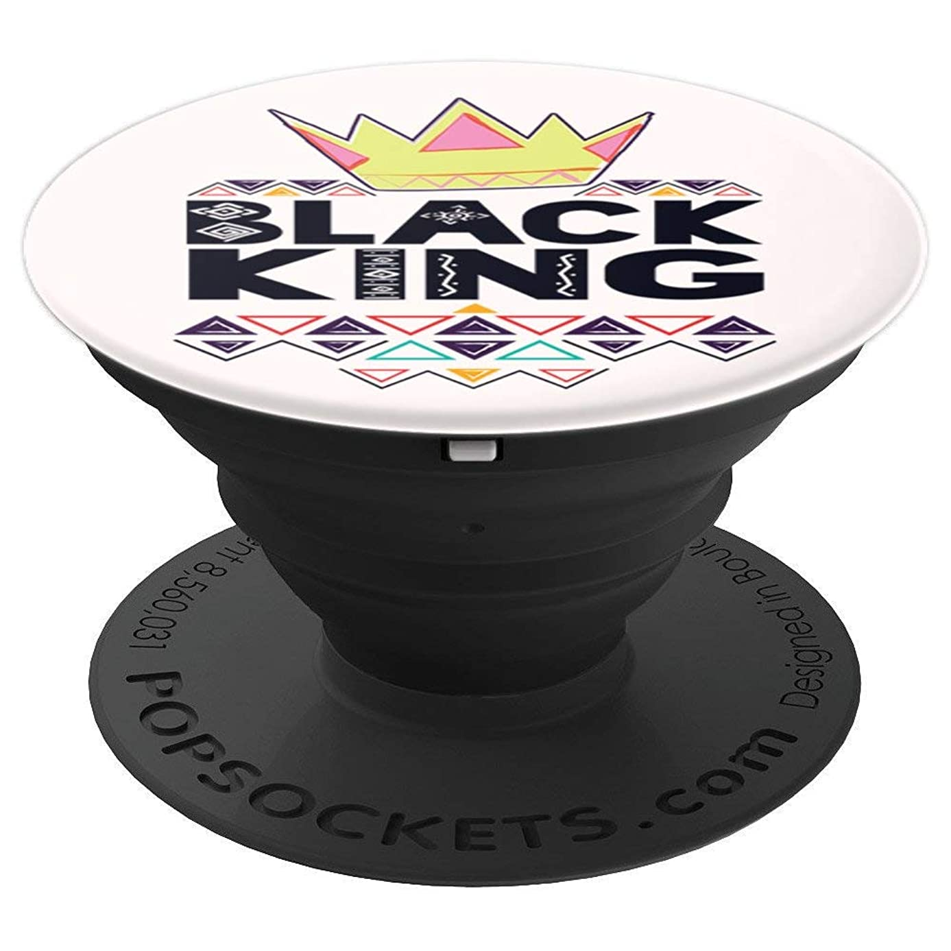 Black King Products for Men Black History Phone Gifts Boys - PopSockets Grip and Stand for Phones and Tablets