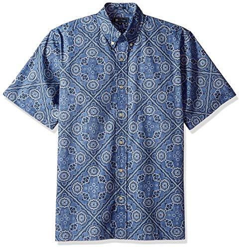 Reyn Spooner Herren Classic Fit Hawaiian Shirt Hemd, Kaimana Bandana True Navy, 3X-Groß