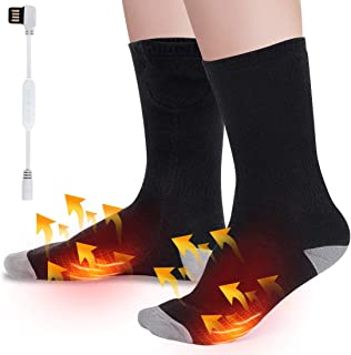 Calcetines térmicos eléctricos con 3 ajustes de calefacción, calentador de pies para senderismo, caza, camping, equitación en motocicleta, esquí, clima frío, calor para artritis calentar pies crónicos