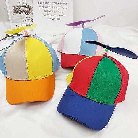 Ouken 1pc Casquette avec H/élice dr/ôle H/élice Chapeau cr/éatif Airscrew Chapeau Multicolore Casquette de Baseball Chapeau pour Enfant