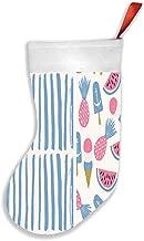 Summertime Set Brushes Fruits Ice Aloha Christmas Stockings 16.5 Inch Plush Decorations for Family Celebrate Seasonal Deco...