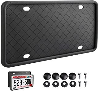1 pcs Rightcar Solutions Silicone License Plate Frame Car license cover Cadre de plaque d'immatriculation en silicone hold...