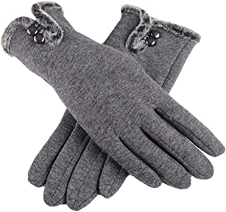 Touch Screen Gloves PU Leather Women Gloves Waterproof Faux Rabbit Fur Thick Warm Spring Winter Gloves