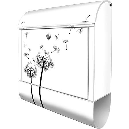 Design Briefkasten Zeitungsfach Pusteblume Wind Blüte Natur Abtrakt Kontrast