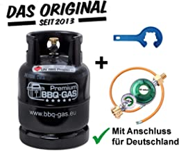 CAGO 5 kg Propan-Gas-Flasche Camping Grill Gasflasche Neu leer INKL Gasregler-Schl/üssel