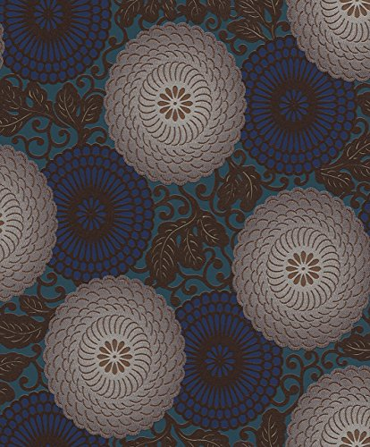 Rasch Tapete 759082 Vliestapete, klassisches, florales Motiv