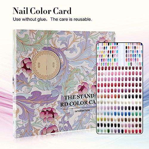 120 Farben Nailart Display Farbkarte Buch, Salon Gel Farben Anzeigen Nagellack Muster Designs...