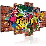 murando Cuadro en Lienzo Street Art 100x50 cm Impresión de 5 Piezas Material Tejido no Tejido Impresión Artística Imagen Gráfica Decoracion de Pared Graffiti Futbol 020105-18
