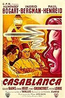 古いTin Sign Movieポスターカサブランカ