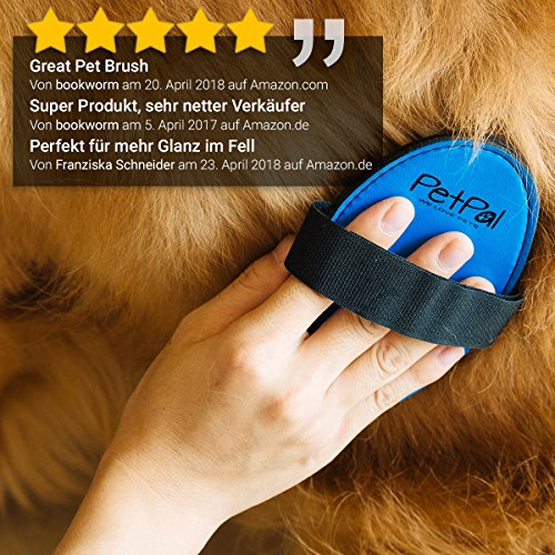 Fell-Pflege Gummi-Striegel von PetPäl für Hunde & Katzen mit Massage-Effekt in Salon Qualität | Professionelle Bürste mit Noppen für kurzes bis mittellanges Fell +2 Gratis Abstracts | Ideales Ausbürsten von Staub & losem Haar für gesundes, glänzendes Fell - 5