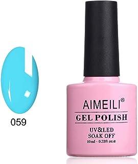 AIMEILI Soak Off UV LED Gel Nail Polish - Neon Pacific (059) 10ml