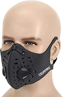MoHo Dust Mask, Upgrade Activated Carbon Dustproof Mask Windproof Foggy Haze Anti-Dust Mask Motorcycle Bicycle Cycling Ski Half Face Mask for Outdoor Activities
