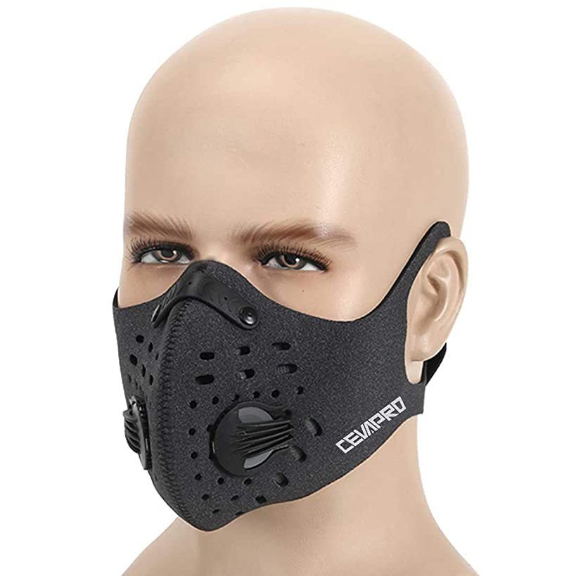 MoHo Dust Mask, Upgrade Version Activated Carbon Dustproof Mask Windproof Foggy Haze Anti-Dust Mask Motorcycle Bicycle Cycling Ski Half Face Mask for Outdoor Activities