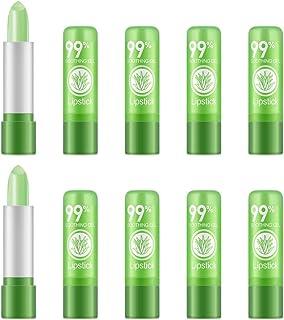 Ownest 10 paquetes de lápiz labial Aloe Vera de larga duración Calmante Crema de cacao nutritiva hidratante Labios Color...
